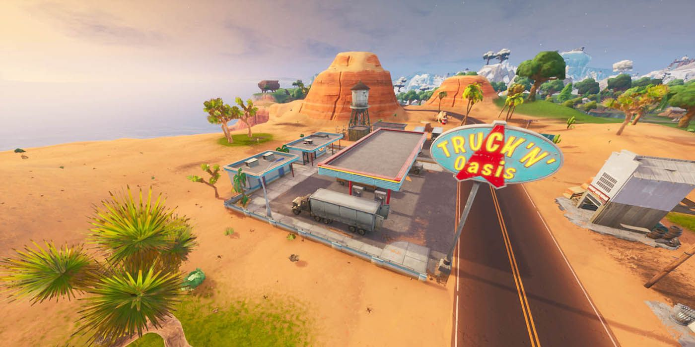 Fortnite Spray 3 Gas Stations Fortnite Where To Spray Different Gas Stations Game Rant