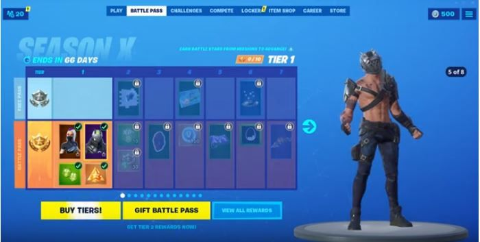 Game Rant Fortnite Season 9 Battle Pass Here Are All The Skins