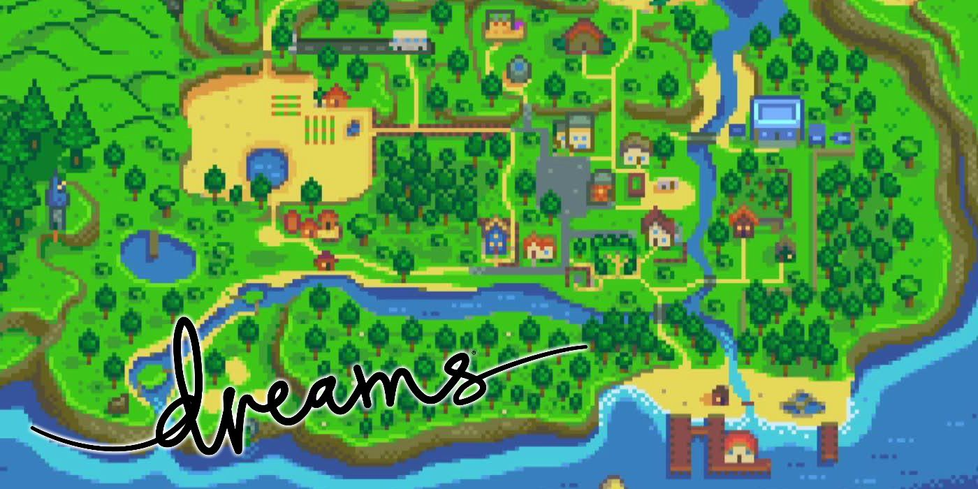 Stardew Valley's Pelican Town Recreated in Dreams   Game Rant