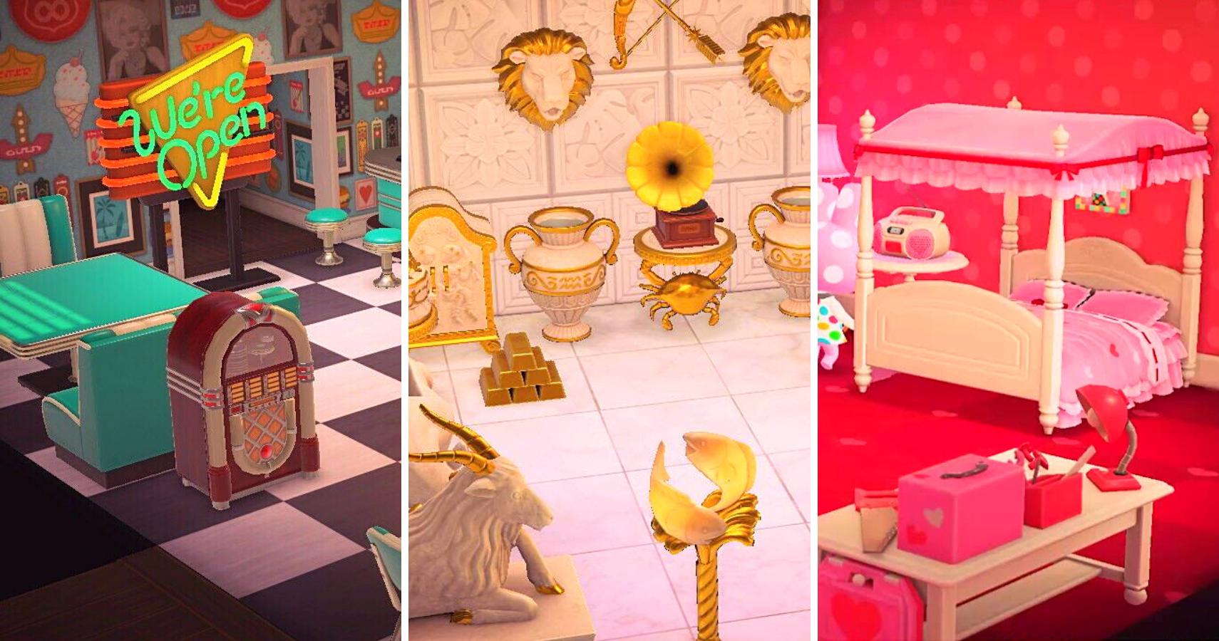 White Rattan Bed Animal Crossing - New Interior Design