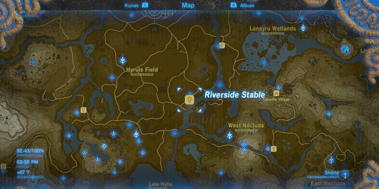 Breath Of The Wild The Location Of Every Stable In The Game