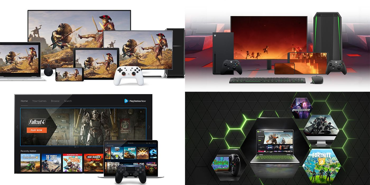 The Future of Game Streaming: xCloud, Stadia, PS Now, GeForce Now