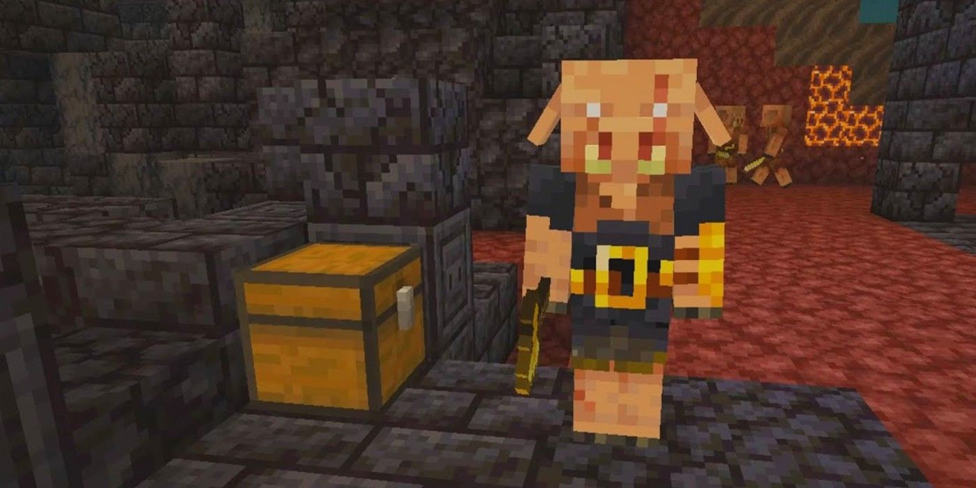 Minecraft 11.111.11 Update Introduces Piglin Brute Mobs  Game Rant
