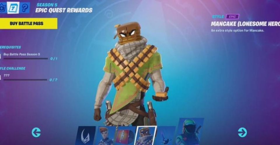 Fortnite How To Talk To A Character Game Rant Mancake is a wild western inspired bandit outfit with a stack of pancakes for a head. fortnite how to talk to a character