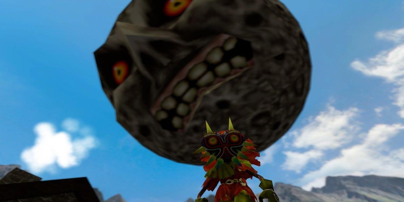 The Moon From Majora's Mask Looms Over Fish in Zelda Fan's Aquarium