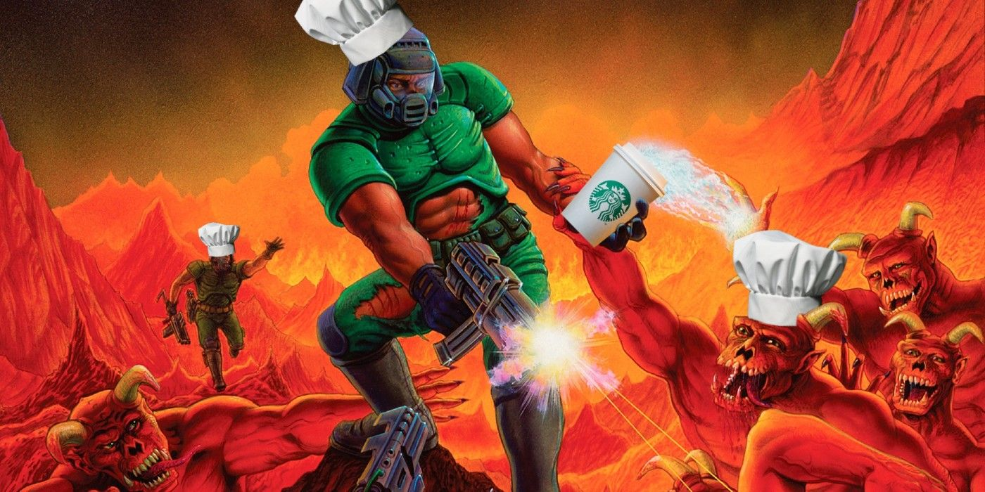 Someone Got Doom Running on a Commercial Kitchen Appliance