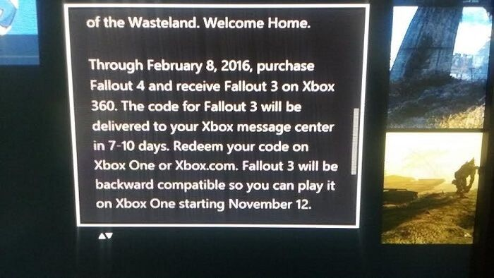 Fallout 4's Free Fallout 3 Promotion On Xbox One Expires Early Next Year