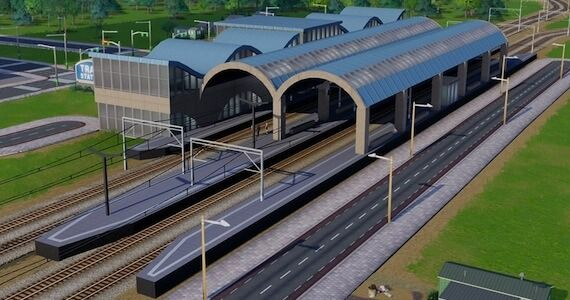 SimCity' Central Train Station Showcases Game's Modding Potential