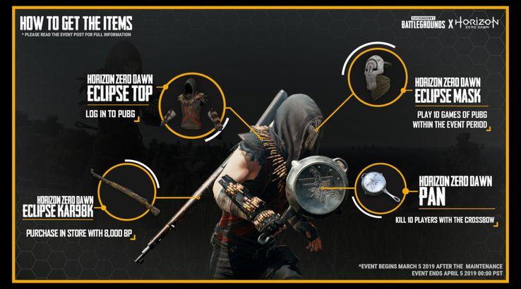 PUBG: How to Unlock Horizon Zero Dawn's Free Skins on PS4